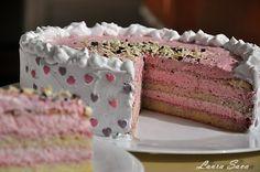 Tort cu crema de iaurt si zmeura Unicorn Birthday, Birthday Cake, Romanian Food, Something Sweet, Bread Baking, Vanilla Cake, Caramel, Recipies, Cheesecake