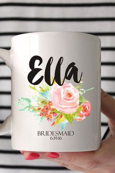Please send the name and date you would like on your mug in a convo or note to seller! Congrats and Thank you!  -Material: 100% White Ceramic -Size: 11 Fluid oz. -Care: Dishwasher + Microwave Safe Artwork designed with Create the Cut  CHRISTMAS ORDERS ( NOT RUSHED) MUST BE ORDERED BY FRIDAY DECEMBER 9TH!!  RUSH ORDERS FOR $20 AND YOUR ORDER SHIPS IN 2 BUSINESS DAYS PRIORY MAIL. LAST DAY FOR RUSH ORDERS IS DECEMBER 17TH! HAPPY HOLIDAYS !  ALL MUGS ARE HAND MADE TO ORDER NO REFUNDS OR RETURNS…