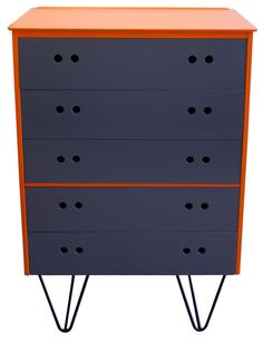 Upcycled Mid-century Modern Chest of Drawers  from http://www.theoldcinema.co.uk/