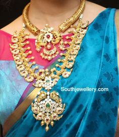 Antique Gold Necklace and Mango Mala