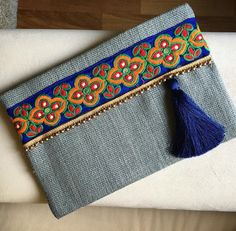 Bohemian clutch, boho style, ethnic handbag, womens bag, clutch purse, Gift for her by BohoChicCollection on Etsy