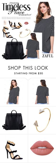 """Zaful 8"" by sabinakopic ❤ liked on Polyvore featuring Lime Crime, bestylish, zaful and lovezaful"