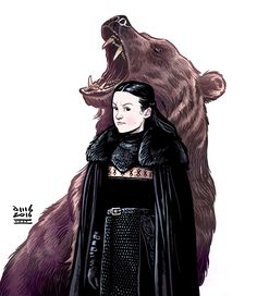 "davidmbuisan: "" Season Finale was EPIC! ⚔ http://instagram.com/davidmbuisan Art by David M. Buisán "" Cool Cartoon Art of Lady Lyanna Mormont of the Bear Island by David M. Buisan"