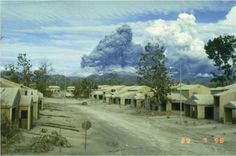 Pinatubo Erruption, Clark Air Base.  1991.  Housing Area. Mount Pinatubo, Subic Bay, Air Force Bases, Military Life, Volcano, Homeland, Southeast Asia, Ww2, Childhood Memories