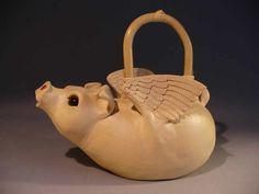 Flying Pig Teapot