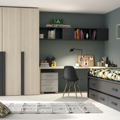Recursos para cambiar de habitación: de niños a adolescentes – Deco Ideas Hogar Teen Boy Rooms, Teenage Room, Home Decor Bedroom, Kids Bedroom, Boy Bedrooms, Chambre Nolan, Student Room, Condo Living, Kids Room Design
