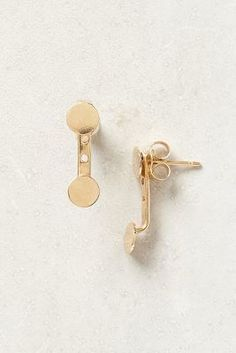 White/Space Floating Disc Earrings #anthrofave #anthropologie