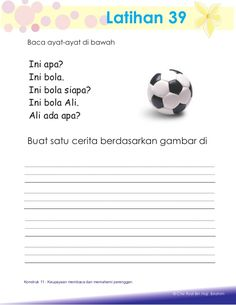 Aktiviti asas membaca Preschool Writing, Kindergarten Reading, Islam For Kids, Reading Worksheets, Teaching English, Activities, Education, Autism, Printable