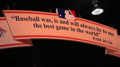 """Baseball was, is, and will always be to me the best game in the world."" - Babe Ruth. Rangers Baseball, Reds Baseball, Baseball Season, Texas Rangers, Baseball Stuff, Casey At The Bat, America's Favorite Pastime, No Crying In Baseball, Red Sox Nation"