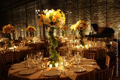 Gala decor ideas - tall florals, use of candles/ Photography by John Armich • Floral Design by Rusty Thomas Event Designs • Lighting by Eggsotic Events
