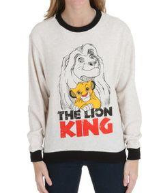 (affiliate link) LION KING LOOP FRENCH TERRY SWEATSHIRT