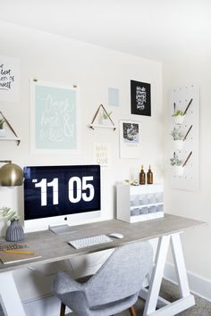 Modern & Vintage Office Reveal - brepurposed