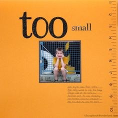 Too Small - a simple but perfect layout about a moment in Disney