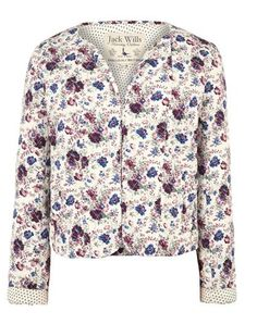 quilted cotton floral jacket