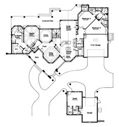 The Lawton Place European Home has 4 bedrooms, 3 full baths and 2 half baths. See amenities for Plan 047D-0058.