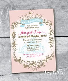 Sleeping Beauty Princess Party Collection custom PRINTABLE invitation by ItsyBelle, $16.00