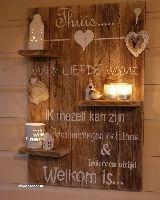 Decoratief wandbord 'Thuis'