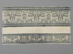 Towel, part Place of origin:Italy (made) Perugia, Italy (probably, made) century (made) Materials and Techniques:Linen in twill weave with supplementary cotton wefts Clothing And Textile, Table Linens, Middle Ages, Hand Towels, Renaissance, Perugia Italy, Medieval, Weaving, Table Clothes