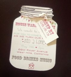 Vintage Mason Jar Housewarming Party Invitations by TERESA2020, $2.00