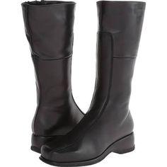 La Canadienne Blanche Women's Zip Boots Black Leather : 9 W (D)