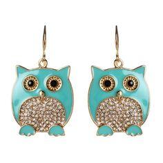 Owl Jewelry, Jewelry Box, Jewelery, Jewelry Accessories, Owl Earrings, Drop Earrings, Animal Earrings, Owl Necklace, Arte Elemental