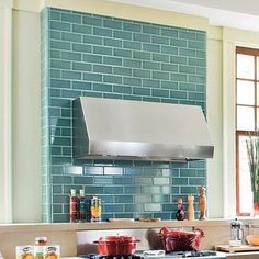 Blue Subway Tile Backsplash Or Maybe A Mint Color Dark