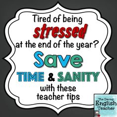Time saving teacher tips for the end of the year. #secondaryeducation #edchat