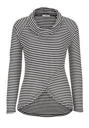 top with cowl neck and stripes - maurices.com