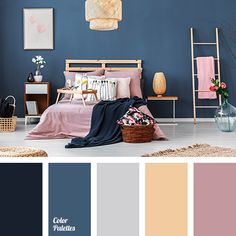 Blue Bedroom, Trendy Bedroom, Home Decor Bedroom, Bedroom Ideas, Navy Bedrooms, Small Bedrooms, Dark Wood Bedroom Furniture, Brown Furniture, Kitchen Furniture