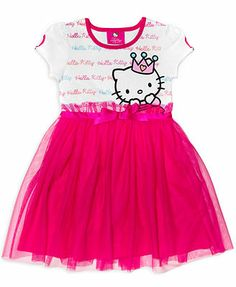 Hello Kitty Little Girls' Short Sleeve Dress