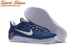 f5ae179f2769 Nike Kobe A.D. Sneakers For Men Low Navy Blue White Free Shipping PReZE5a