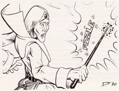 Fizzle. (Jeff Dee, from AD&D module Q1 Queen of the Demonweb Pits, TSR, 1980.)