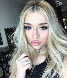 ✦⊱ɛʂɬཞɛƖƖą⊰✦ Daily Beauty, Beauty Make Up, Glam Makeup, Eye Makeup, Meg Feather, Hair Highlights, Hair Looks, Makeup Inspiration, Spongebob Squarepants