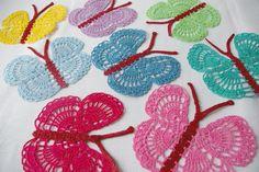 -summer glamor crochet butterfly  by MIKALINOS