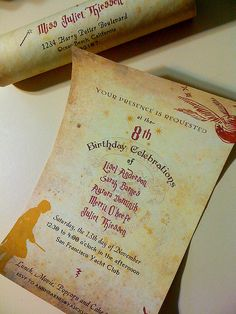 Fun Harry Potter themed invitations by Earmark Social!