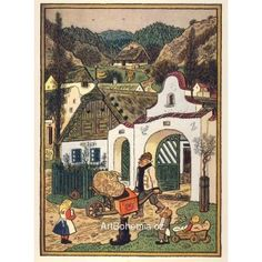 Sedlák Naive, Czech Republic, Illustrators, Vintage World Maps, The Past, Europe, Houses, Retro, Poster