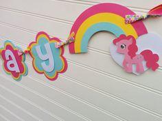 My little Pony Happy Birthday banner Unicorn by SweetBugABoo