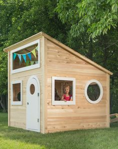 and so is Playhouse 944 Outdoor Wood Playhouse from CedarWorks Outside Playhouse, Playhouse Plans, Build A Playhouse, Modern Playhouse, Childrens Playhouse, Backyard Playset, Backyard Playhouse, Backyard Playground, Kids Outdoor Play