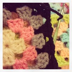 Granny squares in the making....