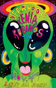 Ana Benaroya's Deerhoof & Xenia Rubinos poster
