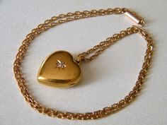 Circa 1900 15K Vintage Antique Gold Locket by AntiqueLockets, $800.00