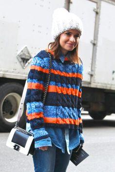 Cozy stripes in NYC.