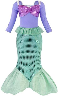 Princess Barbie Mermaid Fishtale Fancy Dress up Costume Party 7//8 Book Week new
