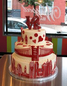 Philadelphia wedding cake !!! Or i would settle for it as a birthday cake! but in green (eagles)