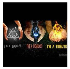 Harry Potter, Percy Jackson, Hunger Gmaes