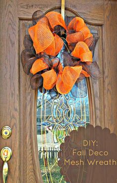 Deco Mesh Wreath  http://www.amittenfullofsavings.com/diy-fall-deco-wreath/
