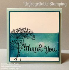 Unfrogettable Stamping | thank you card featuring the Summer Silhouettes stamp set by Stampin' Up!