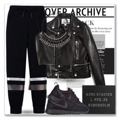 """""""-STYLE-"""" by byjjbh ❤ liked on Polyvore featuring Acne Studios, T By Alexander Wang, Witchery, NIKE, polyvoreeditorial, topnotch and GuruHunter"""