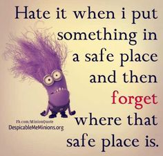 Put something in a safe place - Minion Quotes Cute Quotes, Funny Quotes, Awesome Quotes, Funny Minion Pictures, Minion Mayhem, Funny Riddles, My Minion, Minion Humor, Poetic Justice