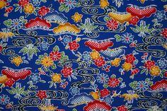 Japanese Cotton, Japanese Kimono, Vintage Japanese, Kimono Fabric, Cotton Fabric, Okinawa, Vintage Fabrics, Printed Cotton, Print Patterns